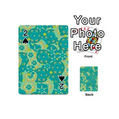 Cyan design Playing Cards 54 (Mini)