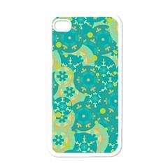 Cyan design Apple iPhone 4 Case (White)