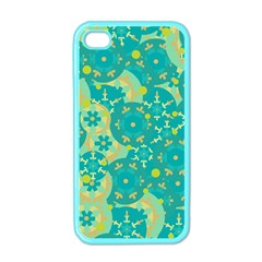 Cyan design Apple iPhone 4 Case (Color)
