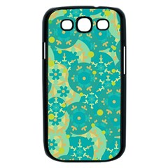 Cyan design Samsung Galaxy S III Case (Black)