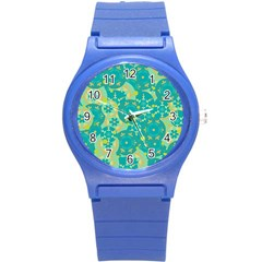 Cyan design Round Plastic Sport Watch (S)