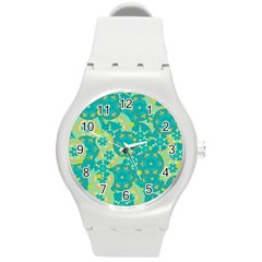 Cyan design Round Plastic Sport Watch (M)