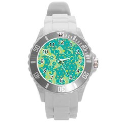 Cyan design Round Plastic Sport Watch (L)