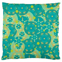 Cyan design Large Cushion Case (One Side)