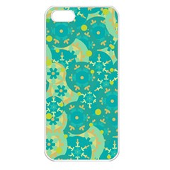 Cyan design Apple iPhone 5 Seamless Case (White)