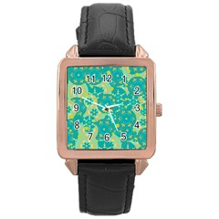 Cyan design Rose Gold Leather Watch