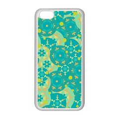 Cyan design Apple iPhone 5C Seamless Case (White)
