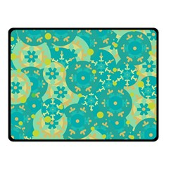 Cyan design Double Sided Fleece Blanket (Small)