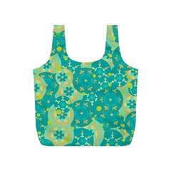 Cyan design Full Print Recycle Bags (S)