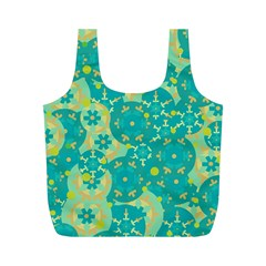 Cyan design Full Print Recycle Bags (M)