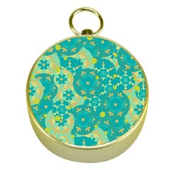 Cyan design Gold Compasses