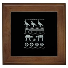 Holiday Party Attire Ugly Christmas Black Background Framed Tiles