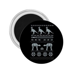 Holiday Party Attire Ugly Christmas Black Background 2 25  Magnets