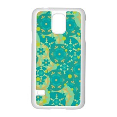 Cyan design Samsung Galaxy S5 Case (White)