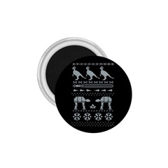 Holiday Party Attire Ugly Christmas Black Background 1.75  Magnets