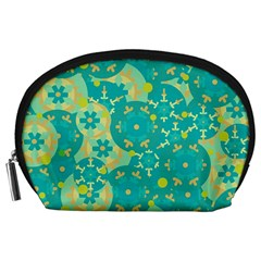 Cyan design Accessory Pouches (Large)