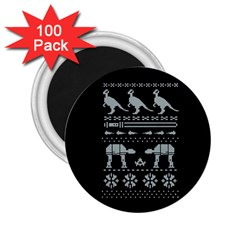 Holiday Party Attire Ugly Christmas Black Background 2.25  Magnets (100 pack)