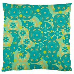 Cyan design Large Flano Cushion Case (Two Sides)