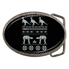 Holiday Party Attire Ugly Christmas Black Background Belt Buckles