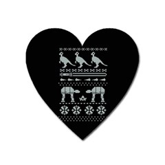 Holiday Party Attire Ugly Christmas Black Background Heart Magnet