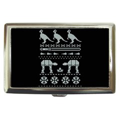 Holiday Party Attire Ugly Christmas Black Background Cigarette Money Cases