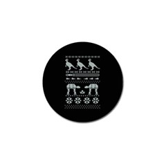 Holiday Party Attire Ugly Christmas Black Background Golf Ball Marker (4 pack)