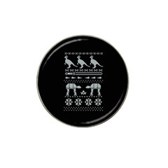 Holiday Party Attire Ugly Christmas Black Background Hat Clip Ball Marker (10 Pack)