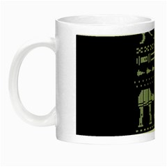 Holiday Party Attire Ugly Christmas Black Background Night Luminous Mugs