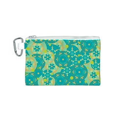 Cyan design Canvas Cosmetic Bag (S)