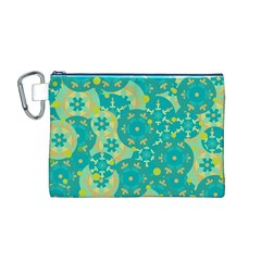 Cyan design Canvas Cosmetic Bag (M)