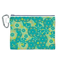 Cyan design Canvas Cosmetic Bag (L)