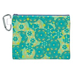 Cyan design Canvas Cosmetic Bag (XXL)