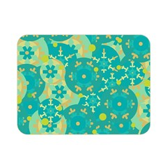 Cyan design Double Sided Flano Blanket (Mini)