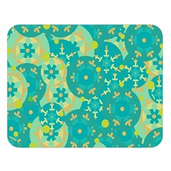Cyan design Double Sided Flano Blanket (Large)