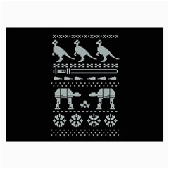 Holiday Party Attire Ugly Christmas Black Background Collage Prints