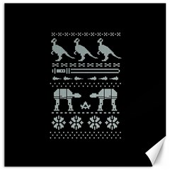Holiday Party Attire Ugly Christmas Black Background Canvas 16  x 16
