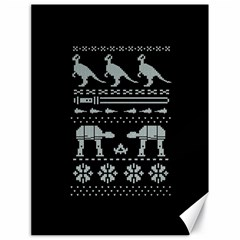 Holiday Party Attire Ugly Christmas Black Background Canvas 18  X 24