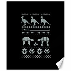 Holiday Party Attire Ugly Christmas Black Background Canvas 20  X 24