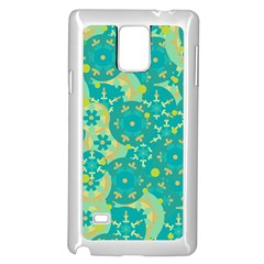 Cyan design Samsung Galaxy Note 4 Case (White)