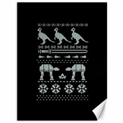 Holiday Party Attire Ugly Christmas Black Background Canvas 36  X 48
