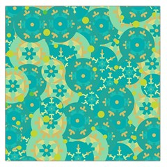 Cyan design Large Satin Scarf (Square)