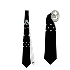 Holiday Party Attire Ugly Christmas Black Background Neckties (Two Side)