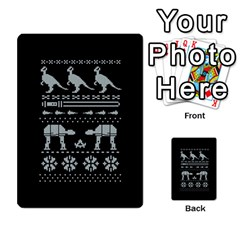 Holiday Party Attire Ugly Christmas Black Background Multi Purpose Cards (rectangle)