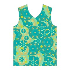 Cyan design Men s Basketball Tank Top