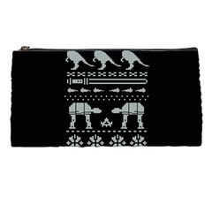 Holiday Party Attire Ugly Christmas Black Background Pencil Cases