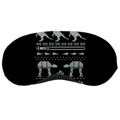 Holiday Party Attire Ugly Christmas Black Background Sleeping Masks