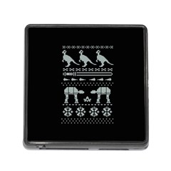Holiday Party Attire Ugly Christmas Black Background Memory Card Reader (square)