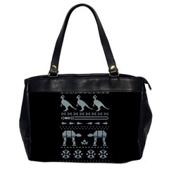Holiday Party Attire Ugly Christmas Black Background Office Handbags