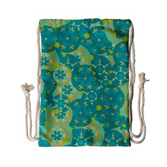 Cyan design Drawstring Bag (Small)