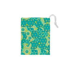 Cyan design Drawstring Pouches (XS)